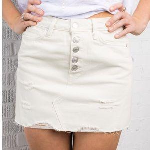 FREE PEOPLE Denim A-Line Skirt